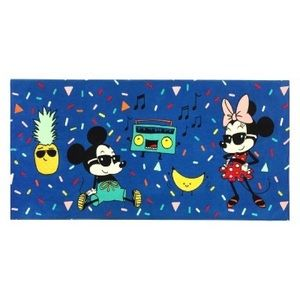 Disney Mickey & Minnie blue summer beach towel